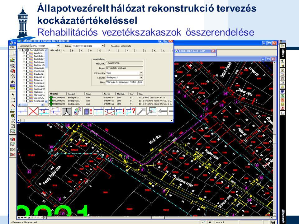 26 Fővárosi Vízművek Rt. www.vizmuvek.hu vizvonal@vizmuvek.hu Állapotvezérelt hálózat rekonstrukció tervezés kockázatértékeléssel Rehabilitációs vezet