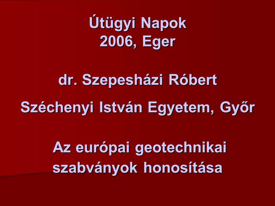 Útügyi Napok 2006, Eger dr.