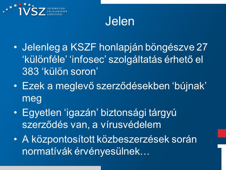 Jelen Jelenleg a KSZF honlapján böngészve 27 'különféle' 'infosec' szolgáltatás érhető el 383 'külön soron' Ezek a meglevő szerződésekben 'bújnak' meg