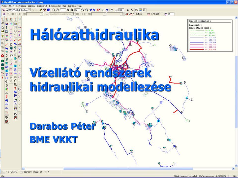 Hálózathidraulika Darabos Péter BME VKKT Vízellátó rendszerek hidraulikai modellezése