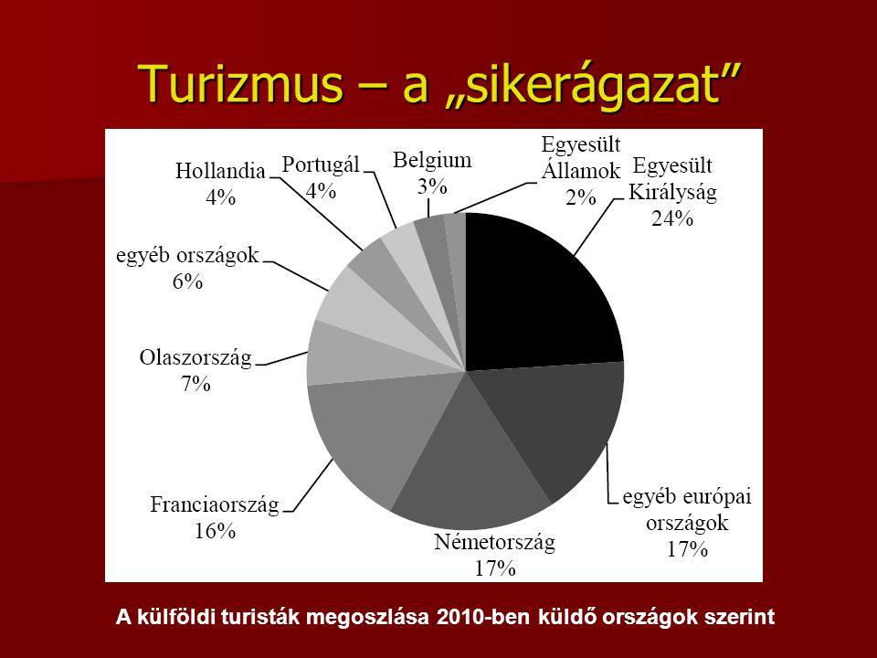 """Turizmus – a """"sikerágazat"""" A külföldi turisták megoszlása 2010-ben küldő országok szerint"""