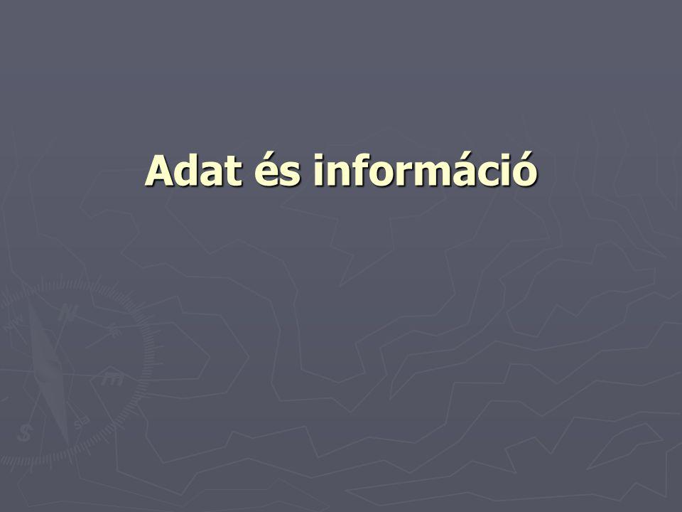 Adat és információ