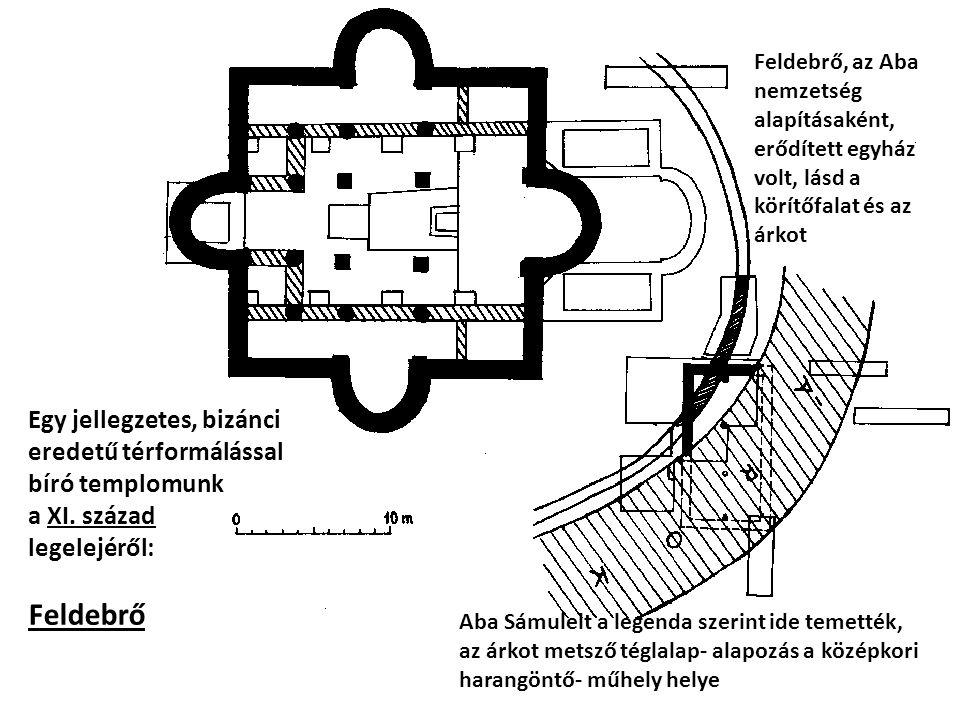 Egy jellegzetes, bizánci eredetű térformálással bíró templomunk a XI. század legelejéről: Feldebrő Feldebrő, az Aba nemzetség alapításaként, erődített
