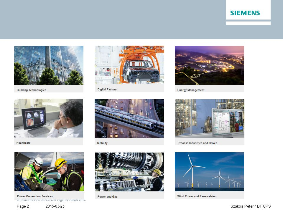 Siemens Zrt. 2014 All rights reserved. Page 23 2015-03-25Szakos Péter / BT CPS EPC TOOL