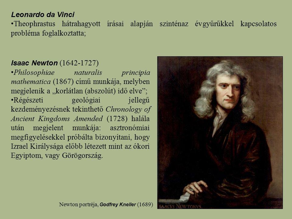 """Isaac Newton (1642-1727) Philosophiae naturalis principia mathematica (1867) című munkája, melyben megjelenik a """"korlátlan (abszolút) idő elve""""; Régés"""