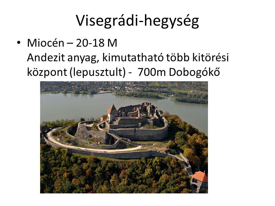 Börzsöny 18-16 M év Nagy andezit tömb 2 csúccsal - Csóványos, Nagyhideghegy A hegy egy kaldéra maradványa (Kemence patak Egybefüggő tömb, erdősült, községek a peremén, ezért magashegység jellegű Nemesérc bányái mára kimerültek (andezit bányák)