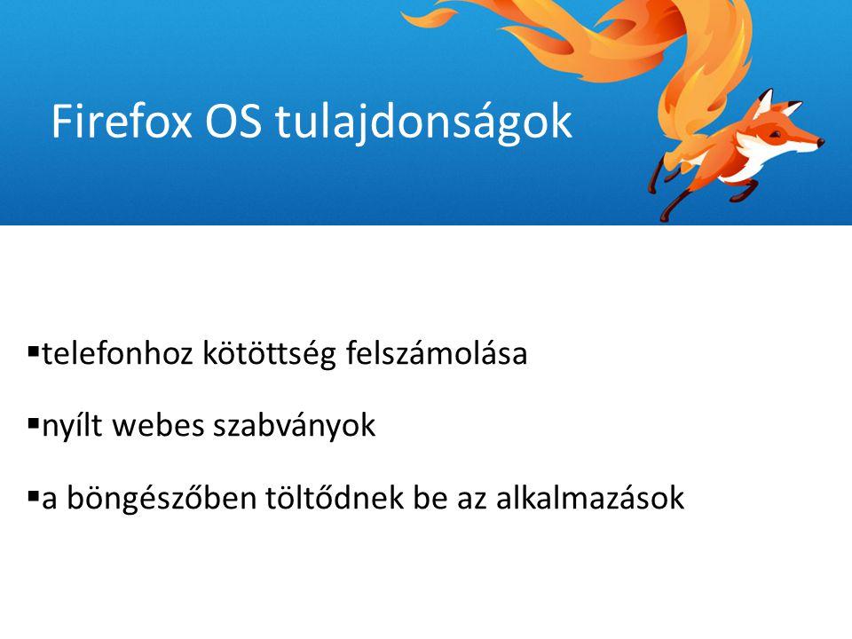  csekély rendszerigény  minimális rendszerigény  mindenki által megfizethető okostelefon Firefox OS tulajdonságok