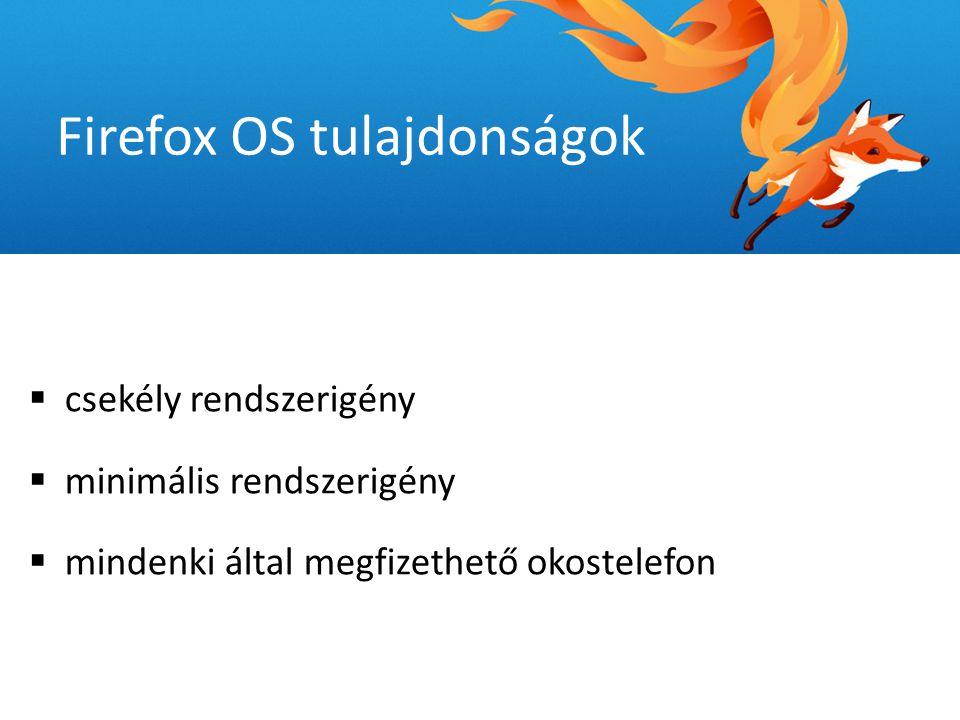 """ Andreas Gal - Mozilla Alapítvány Kutatási Igazgató - jelenlegi mobil operációs rendszerek: """"fallal körülvett kertek  Firefox operációs rendszer könnyebben hozzáférhető  nyílt szabványok, nincs saját szoftver, technológia Firefox OS tulajdonságok"""