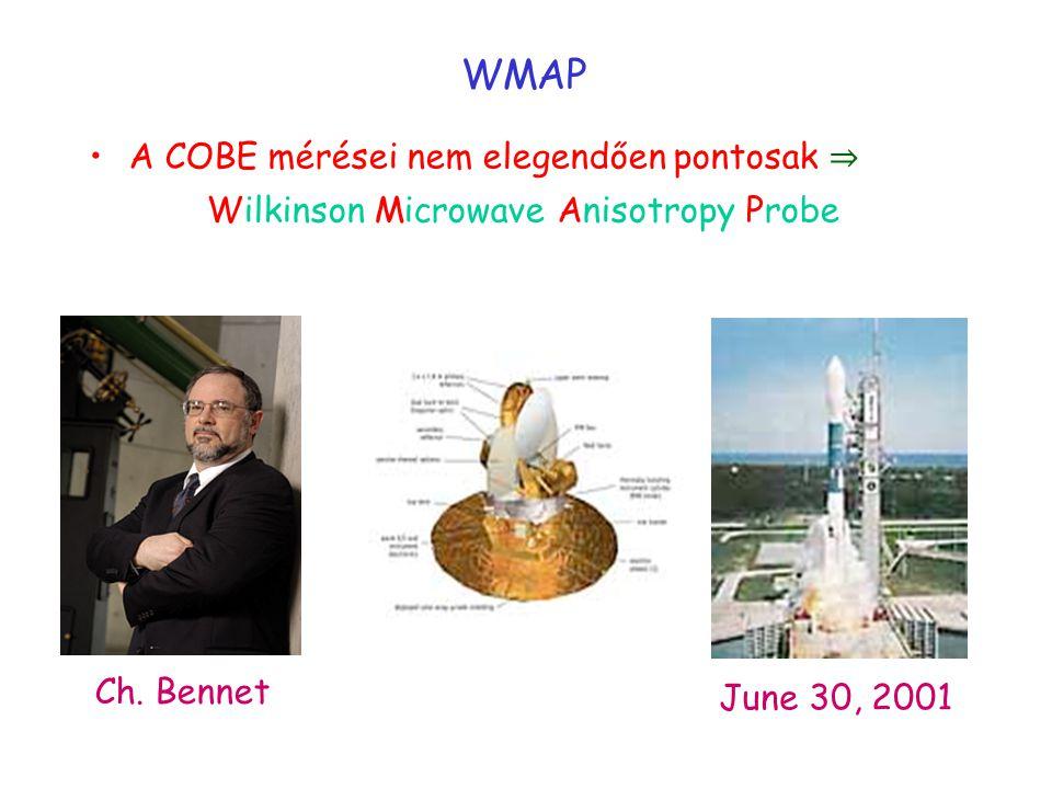 WMAP A COBE mérései nem elegendően pontosak ⇒ Wilkinson Microwave Anisotropy Probe Ch.