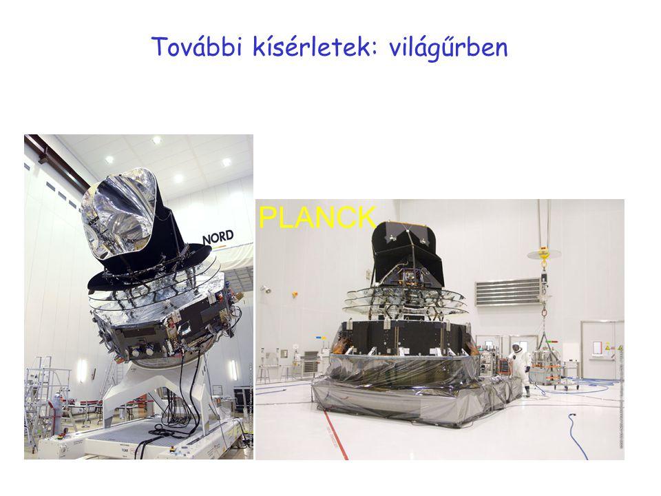 További kísérletek: világűrben PLANCK
