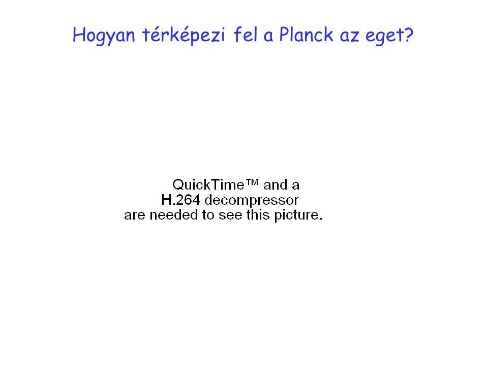 Hogyan térképezi fel a Planck az eget?