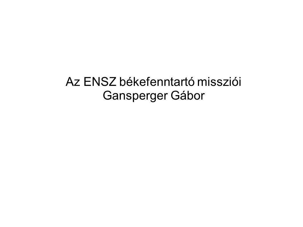 Az ENSZ békefenntartó missziói Gansperger Gábor