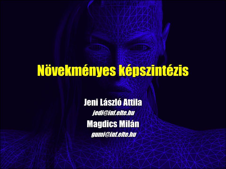 Növekményes képszintézis Jeni László Attila jedi@inf.elte.hu Magdics Milán gumi@inf.elte.hu