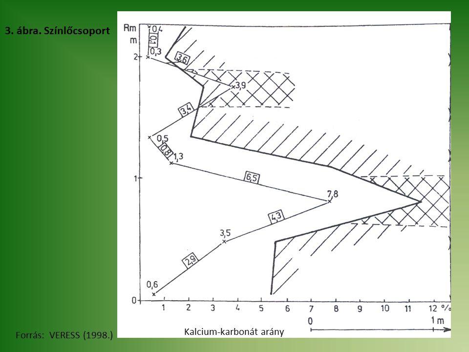 3. ábra. Színlőcsoport Forrás: VERESS (1998.) Kalcium-karbonát arány