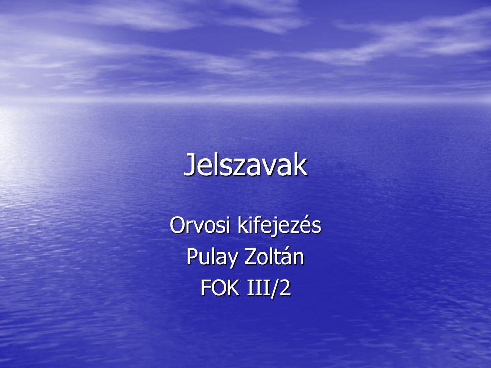 Jelszavak Orvosi kifejezés Pulay Zoltán FOK III/2