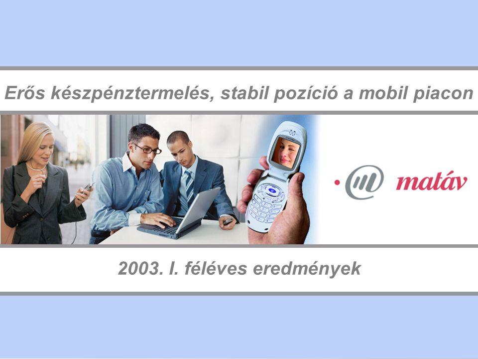 12 MakTel: növekvő ügyfélkör és vonalsűrűség Előfizetők száma Alacsony vonalsűrűség (2%) jelentős növekedési lehetőségek a verseny ellenére Nagymértékű növekedés, felkészülten a versenyre, penetráció: 19% Jelentősen megnőtt az ISDN csatornák száma, vonalsűrűség: 29% Vonalsűrűség Internet vezetékesmobil