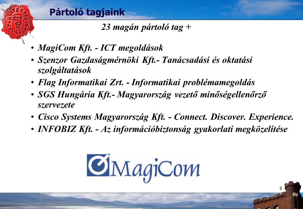 8 Pártoló tagjaink MagiCom Kft.