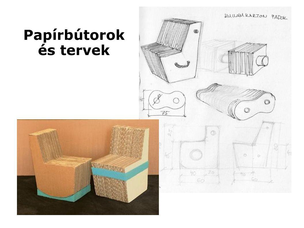 Papírbútorok és tervek