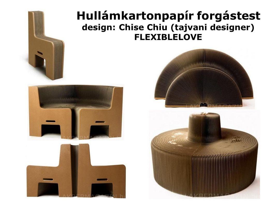 Hullámkartonpapír forgástest design: Chise Chiu (tajvani designer) FLEXIBLELOVE