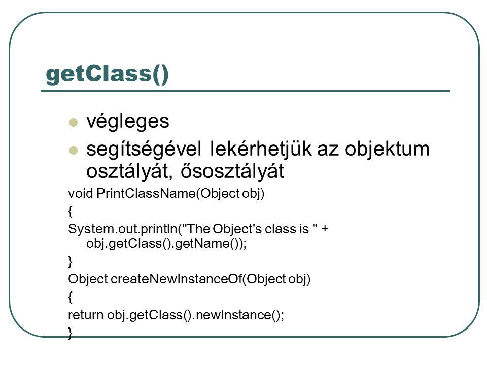 Egymásba ágyazott osztályok I.class TartalmazoOsztaly{...