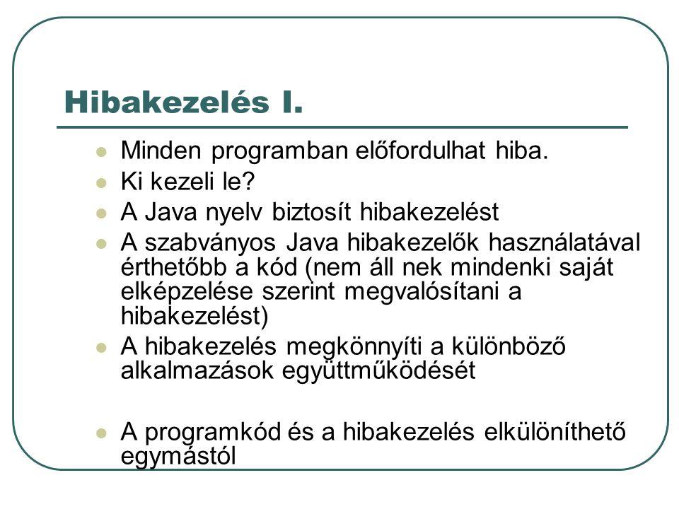 Hibakezelés II.
