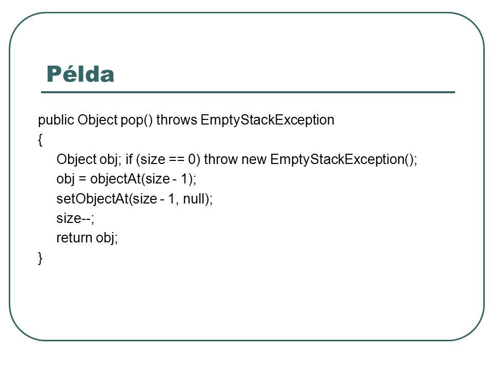 JavaDoc JavaAPI dokumentációhoz hasonló dokumentáció automatikus előállítása //** Ez egy érdekes osztály lesz mert dokumentálva van java.Util.Date */ public class Valami { Használhatunk HTML tag-eket Használhatunk speciális paramétereket: @author @version … A javadoc programmal tudjuk a dokumentációt előállítani
