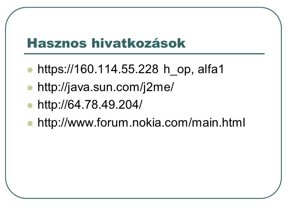 Java nyelv I.