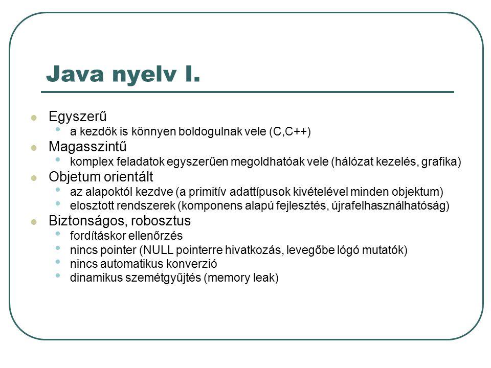 Java nyelv II.