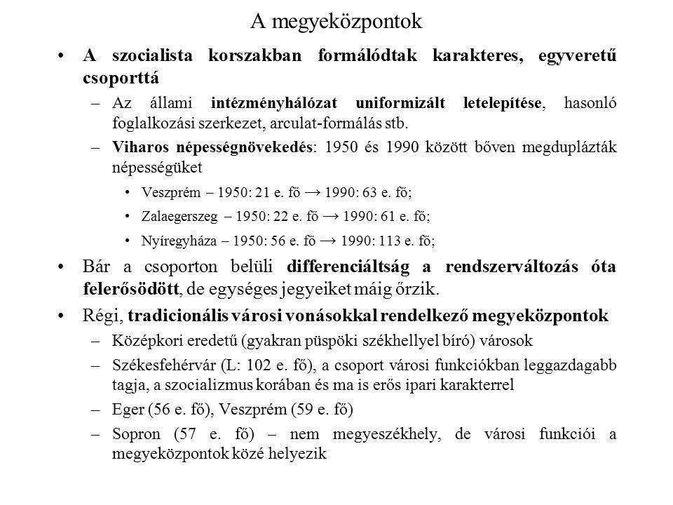 """A megyeközpontok A dualizmuskori városi fejlődés """"termékei –Szombathely (L: 79 e."""