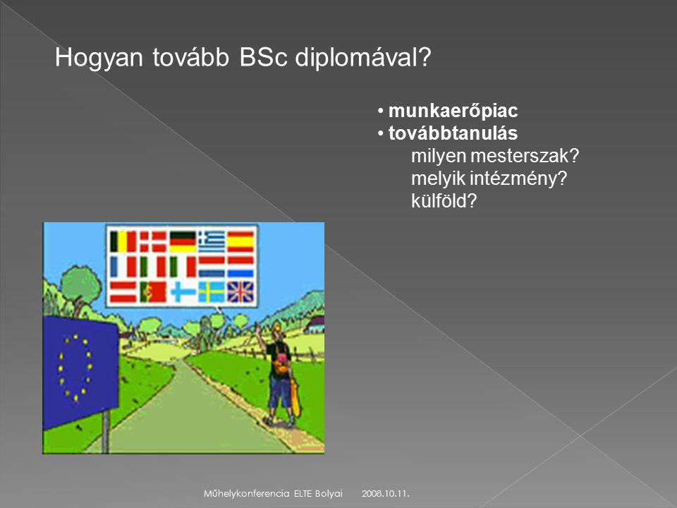 2008.10.11.Műhelykonferencia ELTE Bolyai Hogyan tovább BSc diplomával.