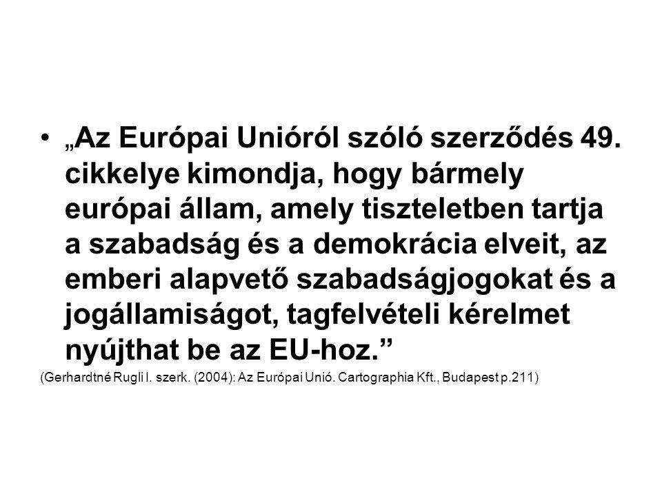 """""""Az Európai Unióról szóló szerződés 49."""