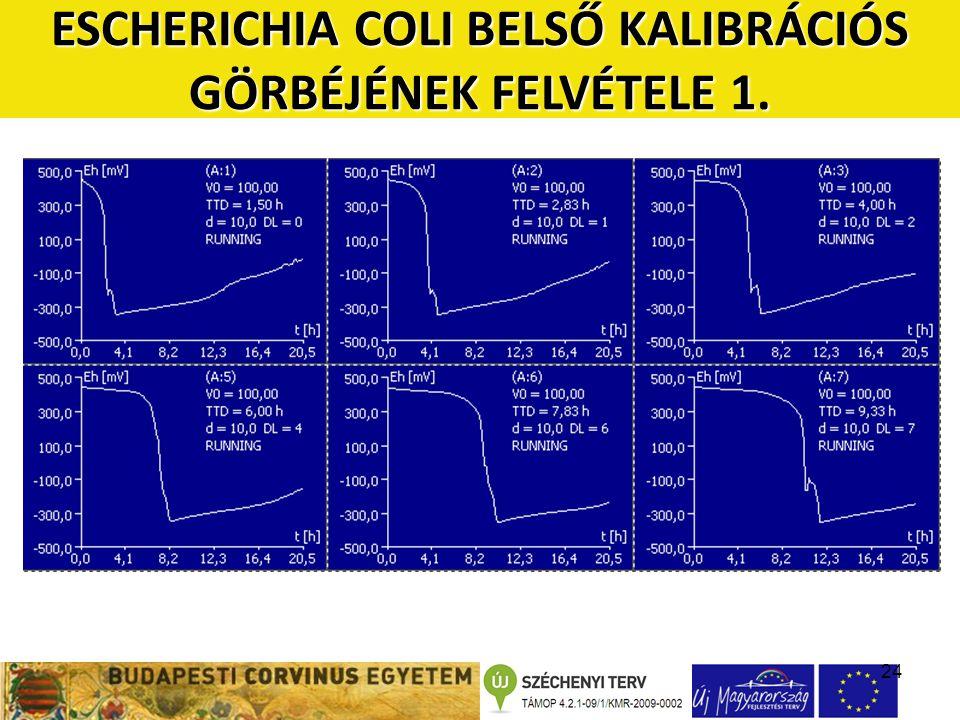 24 ESCHERICHIA COLI BELSŐ KALIBRÁCIÓS GÖRBÉJÉNEK FELVÉTELE 1.
