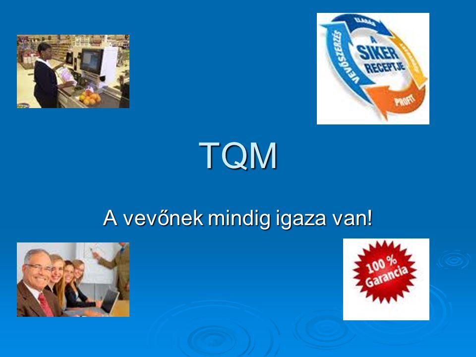 TQM A vevőnek mindig igaza van!