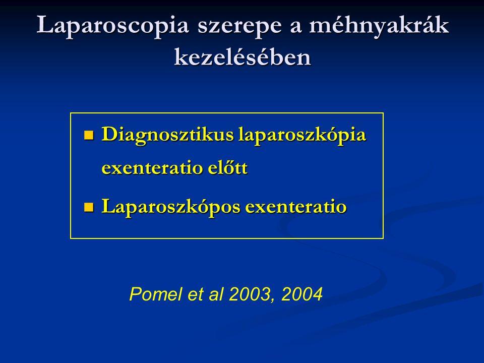Diagnosztikus laparoszkópia exenteratio előtt Diagnosztikus laparoszkópia exenteratio előtt Laparoszkópos exenteratio Laparoszkópos exenteratio Pomel