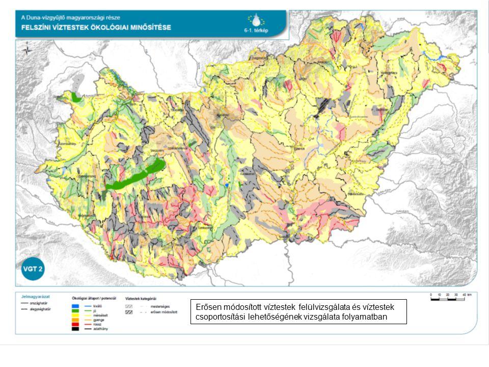 Erősen módosított víztestek felülvizsgálata és víztestek csoportosítási lehetőségének vizsgálata folyamatban