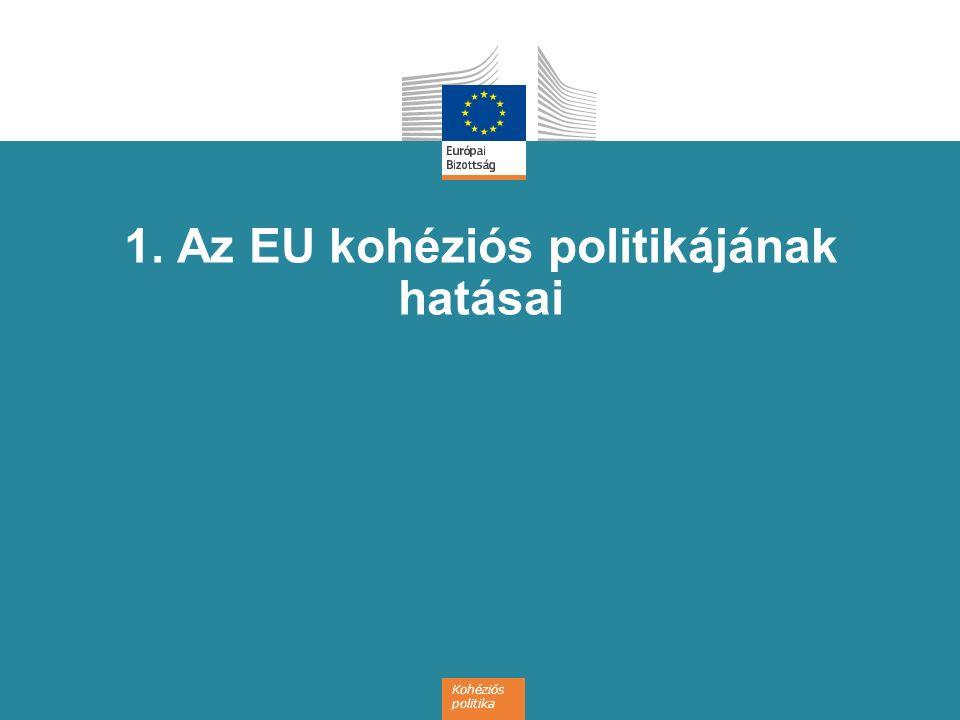 Kohéziós politika 1. Az EU kohéziós politikájának hatásai