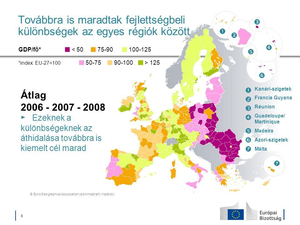 17 Kohéziós Alap Azoknak a tagállamoknak a támogatása, amelyekben az egy főre jutó GNI kevesebb az EU-27 átlagának 90%-ánál Befektetés a környezetvédelembe Klímaváltozással kapcsolatos átállás és kockázatmegelőzés Vízkezelés és hulladékgazdálkodás Biodiverzitás zöld infrastruktúrák révén is Városi környezet Alacsony széndioxid-kibocsátású gazdasági modell Befektetés a közlekedésbe és a szállításba Transzeurópai szállítási hálózat (TEN-T) Alacsony széndioxid-kibocsátású szállítási rendszerek és városi közlekedés