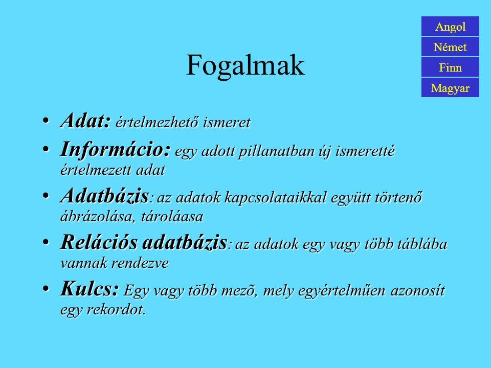 Tiedonhallinnon alijärjestelmän käyttö Englanti Saksa Suomi Unkari