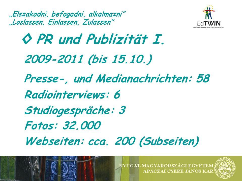 PR und Publizität I.