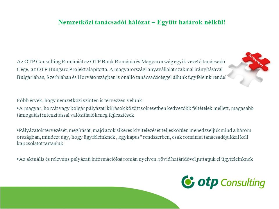 Nemzetközi tanácsadói hálózat – Együtt határok nélkül.