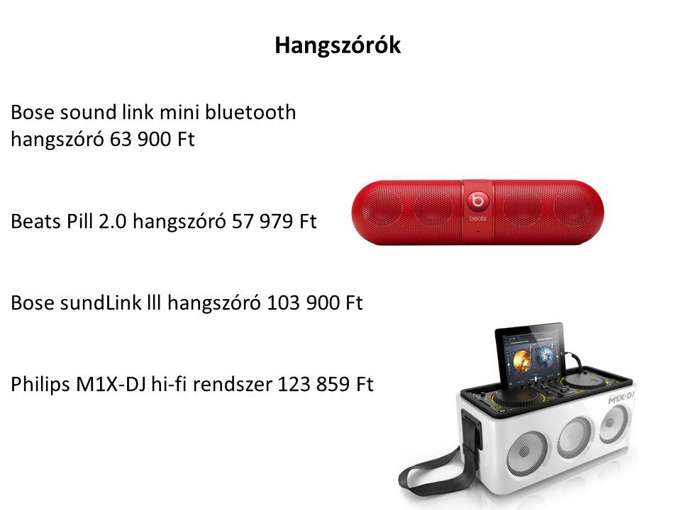 Hangszórók Bose sound link mini bluetooth hangszóró 63 900 Ft Beats Pill 2.0 hangszóró 57 979 Ft Bose sundLink lll hangszóró 103 900 Ft Philips M1X-DJ hi-fi rendszer 123 859 Ft