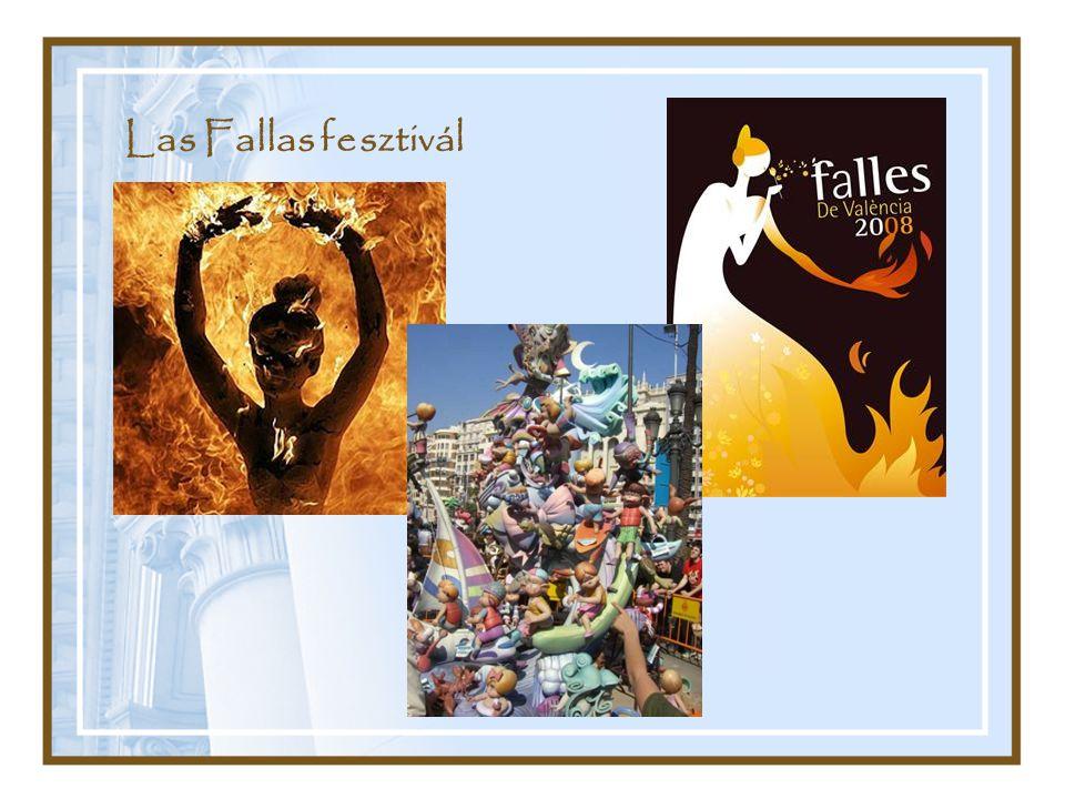 Las Fallas fesztivál