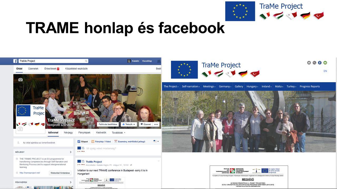 TRAME honlap és facebook