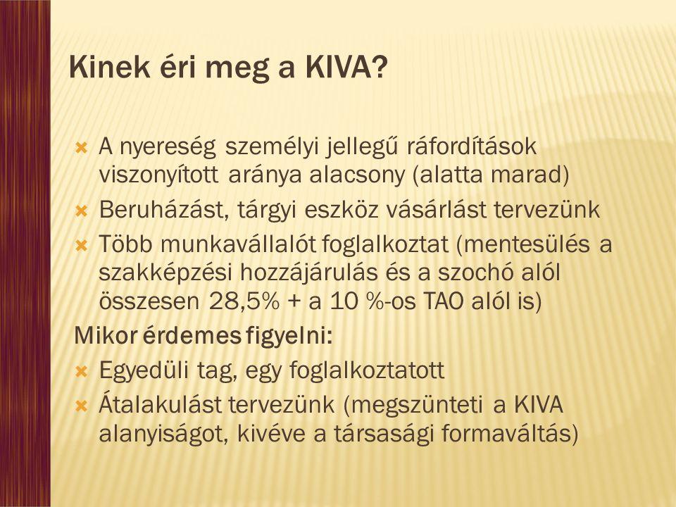 Kinek éri meg a KIVA.