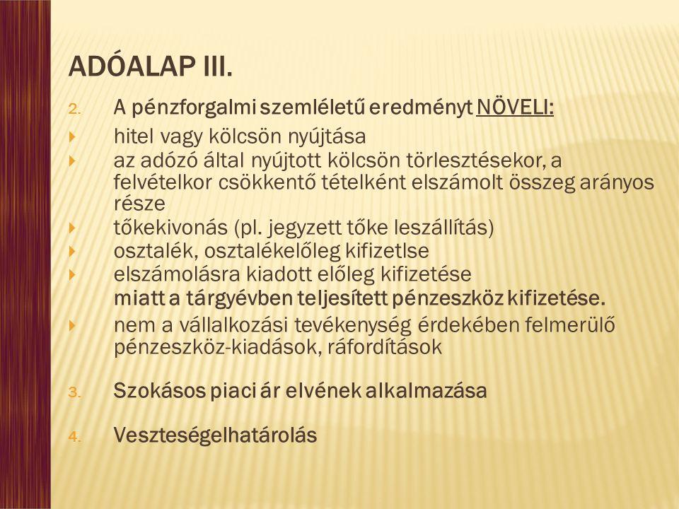 ADÓALAP III.2.