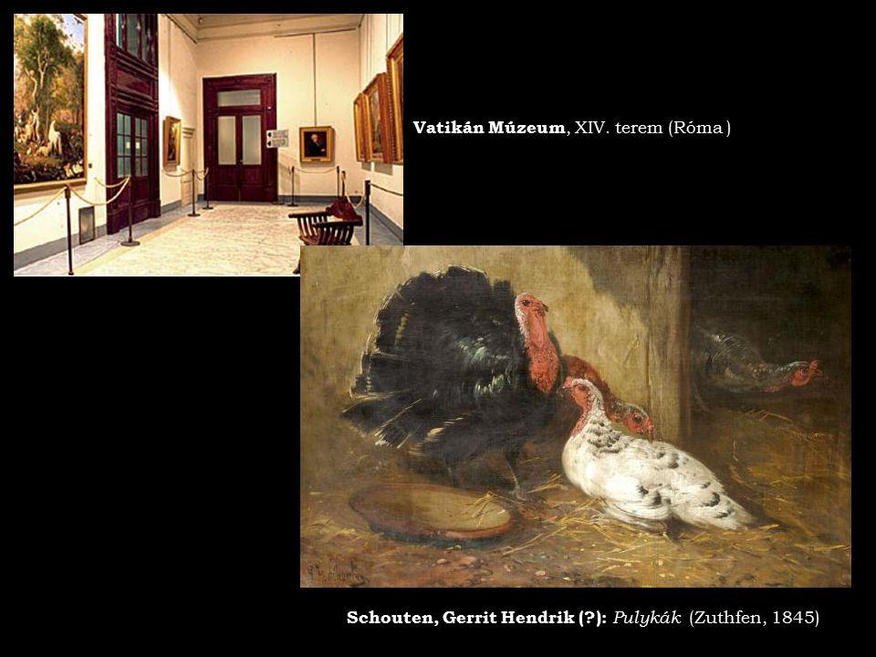 Vatikán Múzeum, XIV. terem (Róma ) Schouten, Gerrit Hendrik (?): Pulykák (Zuthfen, 1845)