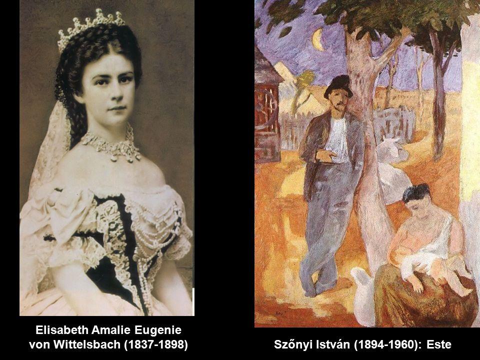 Elisabeth Amalie Eugenie von Wittelsbach (1837-1898) Szőnyi István (1894-1960): Este