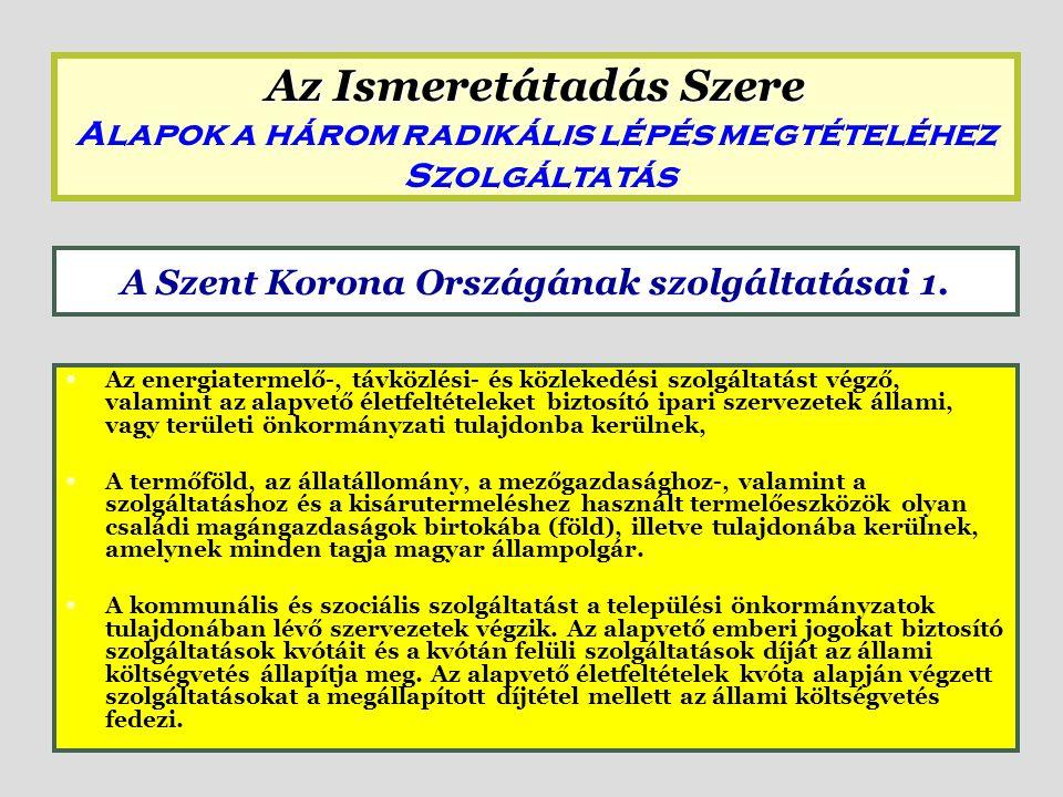 A Gondoskodó Magyarország alapelve az energia felhasználásával kapcsolatban: a lakossági hő- és villamos energia ellátást – személyekre megállapított kontingensig – állampolgári jogon, tehát térítésmentesen kell biztosítani.