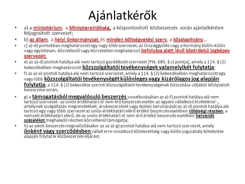 Egyéb közzétételi kötelezettségek Saját honlapon közzéteendő adatok (Kbt.