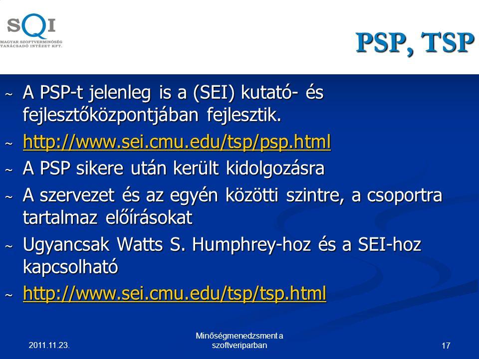 PSP, TSP ~ A PSP-t jelenleg is a (SEI) kutató- és fejlesztőközpontjában fejlesztik.